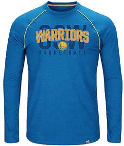 Golden State Warriors Mens Fast Break Long Sleeve Raglan T Shirt