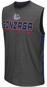 Gonzaga Bulldogs Charcoal Colosseum Architect Synthetic Sleeveless T Shirt