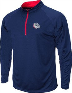 Gonzaga Bulldogs Navy Gridlock Pullover Synthetic Windshirt