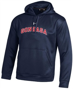 Gonzaga Bulldogs Performance ColdGear Hooded Sweatshirt by Under Armour