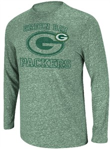 new styles 2e43e 32846 Green Bay Packers Green Heather Go Long 3 Long Sleeve T ...