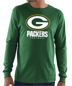Green Bay Packers Mens Green Critical Victory 3 Long Sleeve T Shirt