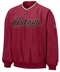 factory price da38c 6eddb Houston Astros MLB Unlined Script Pullover Windjacket By ...