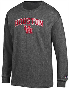 Houston Cougars Granite Heather Champion Campus Long Sleeve Tee Shirt