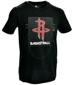 Houston Rockets Black Adidas Key To Victory Mens Short Sleeve T Shirt