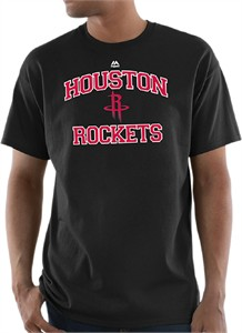 Houston Rockets Mens Black Backboard Short Sleeve T Shirt