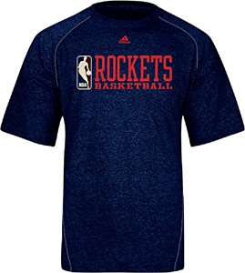 Houston Rockets Climalite Stacked High Performance Tee Shirt by Adidas