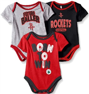 Houston Rockets Infant & Toddler  Little Fan 3 Pack Creeper Set