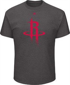 Houston Rockets Mens Charcoal Relentless Preparation Short Sleeve T Shirt
