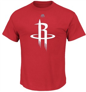 Houston Rockets Mens Red Majestic Logo 2 Short Sleeve T Shirt
