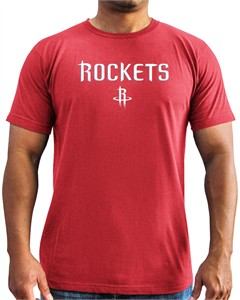 Houston Rockets Mens Red Majestic Put Back Short Sleeve T Shirt