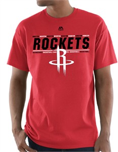 Houston Rockets Mens Red Thrill A Minute Short Sleeve T Shirt
