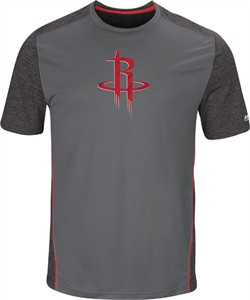 Houston Rockets Mens Storm Grey Respect The Play Synthetic T Shirt