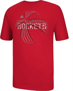Houston Rockets Red NBA Basketball Short Sleeve T Shirt by Adidas