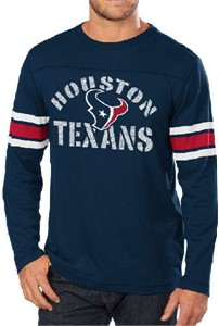 703bee3f Houston Texans Blue Corner Blitz Long Sleeve T Shirt | Houston Texans