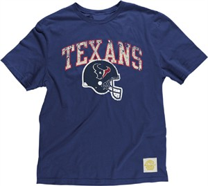 Houston Texans Button Hook Slimmer Fit Retro T Shirt By Reebok