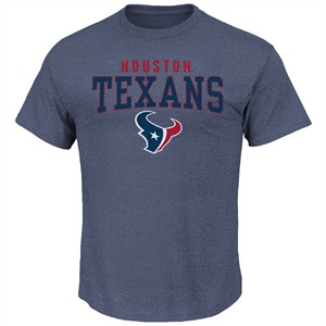 Houston Texans Majestic Athletic Navy Red Zone Opportunity T Shirt on Sale