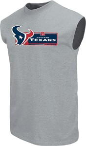 Houston Texans Mens Grey Critical Victory VII Sleeveless Shirt by VF