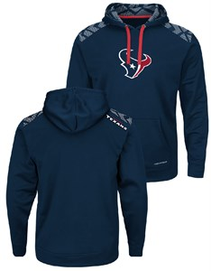 Houston Texans Mens Navy Armor Pullover Synthetic Thermabase Hoodie by Majestic