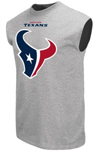 Houston Texans Steel Heather Critical Victory 9 Sleeveless T Shirt by Majestic