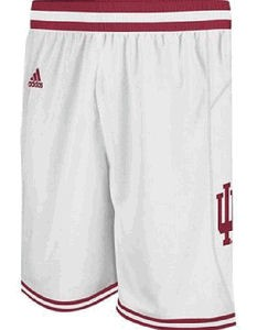 Indiana Hoosiers  White Point Guard Replica Basketball Shorts by Adidas