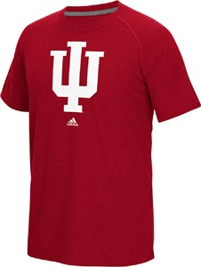 Indiana Hoosiers Crimson Adidas Ultimate Sidelines Logo Polyester T Shirt