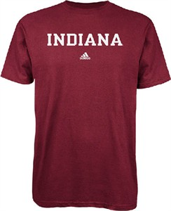 Indiana Hoosiers Crimson Short Sleeve Basic Tee by Adidas