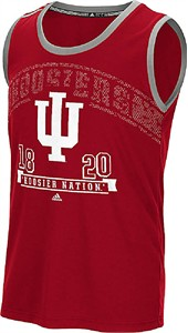 Indiana Hoosiers Crimson Slogan Mens Climalite Tank Top by Adidas
