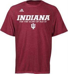 Indiana Hoosiers Heather Red Climalite Slogan Sidelines Top by Adidas