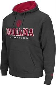 Indiana Hoosiers Mens Charcoal Zone 2 Embroidered Hoodie