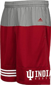 Indiana Hoosiers Mens Core Campus Synthetic Shorts by Adidas