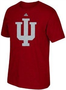 Indiana Hoosiers Mens Crimson Adidas High End Patch Short Sleeve T Shirt