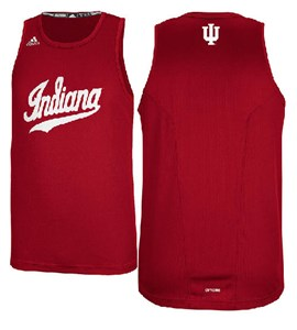 Indiana Hoosiers Refract Performance Tank Top by Adidas