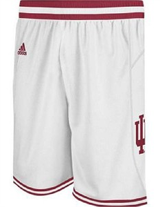 """Indiana Hoosiers White 10"""" Replica Basketball Shorts by Adidas"""