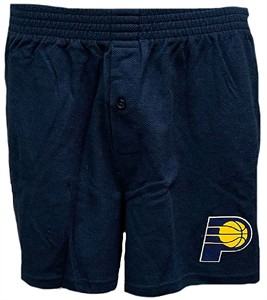 Indiana Pacers Men's Navy Pennant Boxer Shorts