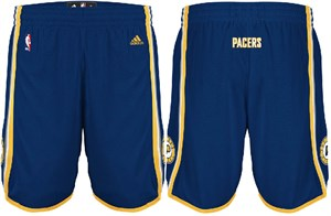 Indiana Pacers Navy Embroidered Swingman Shorts By Adidas
