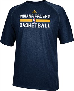 Indiana Pacers Navy Heather Climalite Practice Short Sleeve Shirt by Adidas