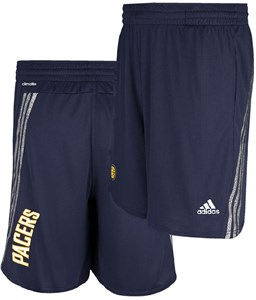 Indiana Pacers Navy Tip Off Climalite NBA Performance Shorts by Adidas