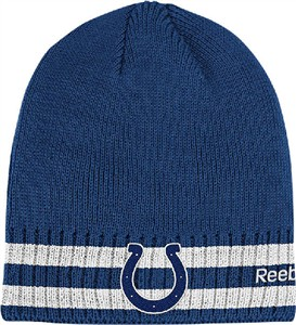 Indianapolis Colts Cuffless Knit Cap by Reebok