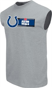 Indianapolis Colts Men's Grey Critical Victory VII Sleeveless Shirt by VF