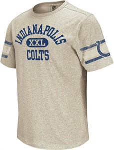 Indianapolis Colts Vintage Applique Shirt by Reebok-Grey