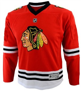 Infant Chicago Blackhawks Red Synthetic Replica Hockey Jersey
