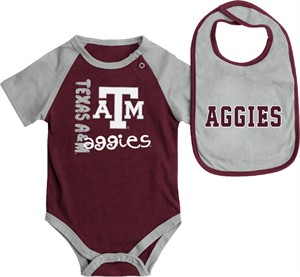 Infant Texas A&M Aggies Maroon Rookie Onesie and Bib Set
