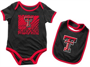 Infant Texas Tech Red Raiders Black Look At The Baby Onesie and Bib Set