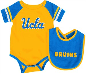 Infant UCLA Bruins Gold Roll Out Onesie and Bib Set