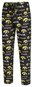 Iowa Hawkeyes Men's Black Midfield Synthetic Pajama Pants by College Concepts