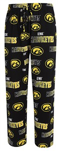 Iowa Hawkeyes Men's Black Sweep Pajama Pants by Concepts Sports