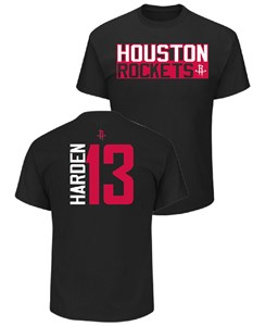 James Harden Houston Rockets Mens Black Vertical Short Sleeve T Shirt