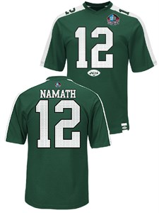 buy online e23e6 be762 Joe Namath Green Hall of Fame Hashmark Synthetic Top by ...
