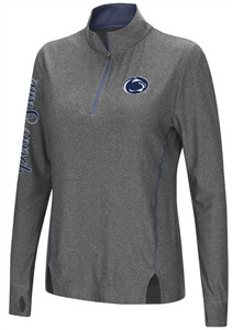 Juniors Penn State Nittany Lions Charcoal Slim Fit Vizzini 1/4 Zip Synthetic Wind Shirt